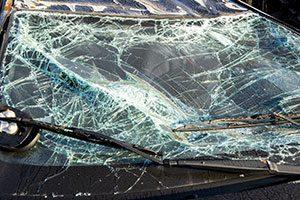 shattered windshield